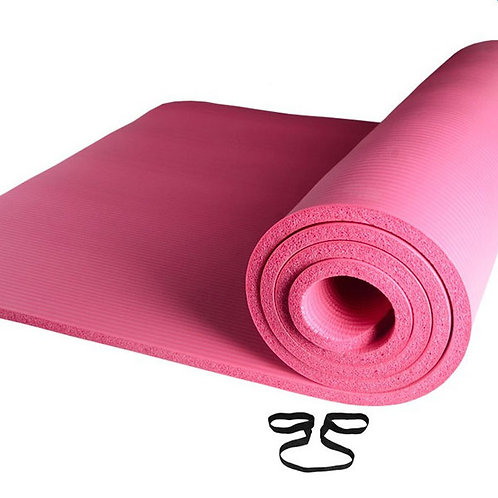 10mm Thick Pink Anti-skid Yoga Mat 183x61x1cm