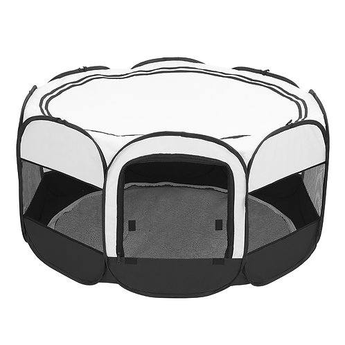 "45"" Circular Portable Mesh Pet Playpen Fence"