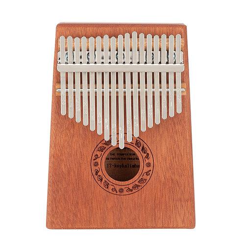17 Key Kalimba Thumb Piano in Mahogany