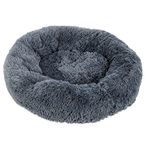 Pet Bed Soft Plush Round in Navy