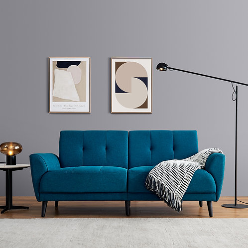 "Modern 71"" Sofa in Blue"