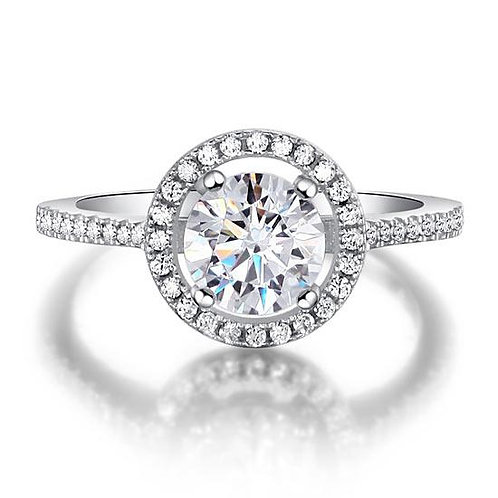 1.25 Carat Round Cut 925 Sterling Silver Wedding Engagement Ring
