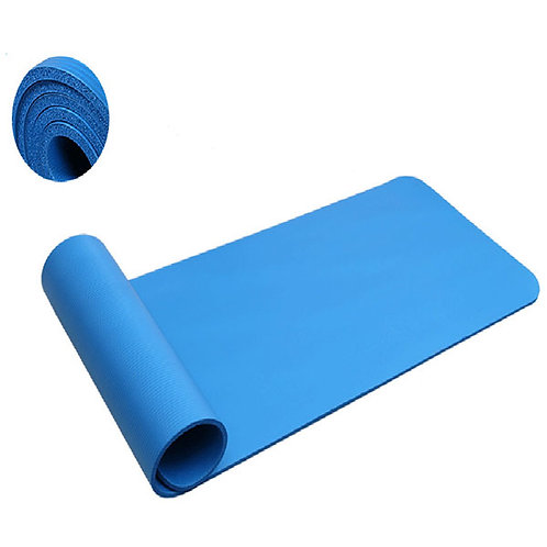 10mm Thick Blue Anti-skid Yoga Mat 183x61x1cm