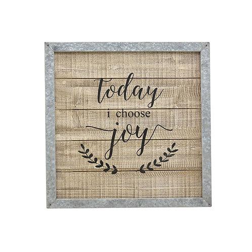 Today I Choose Joy Framed Decoration