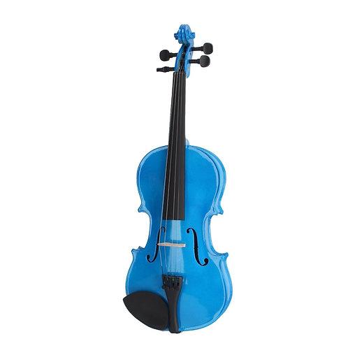Blue Acoustic Violin Set