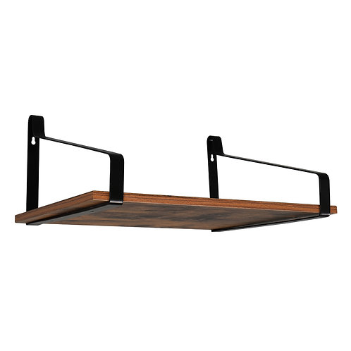 Rustic Wood Floating Shelves Set of 2 Wall Mounted