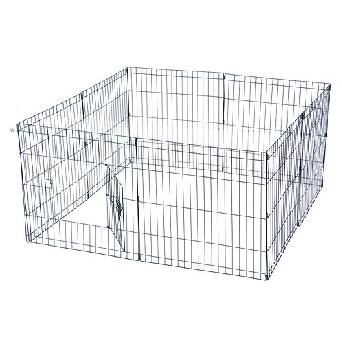 """24"""" Tall Metal Folding Pet Fence and Exercise Play Pen"""