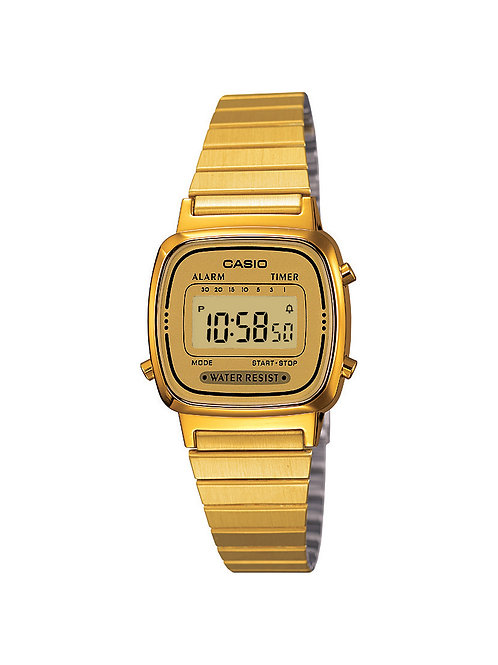 Casio Women's Gold Stainless Steel Digital Watch