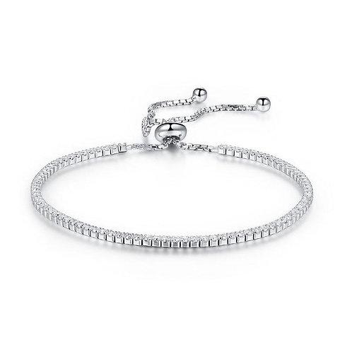 Solid 925 Sterling Silver Bracelet Adjustable