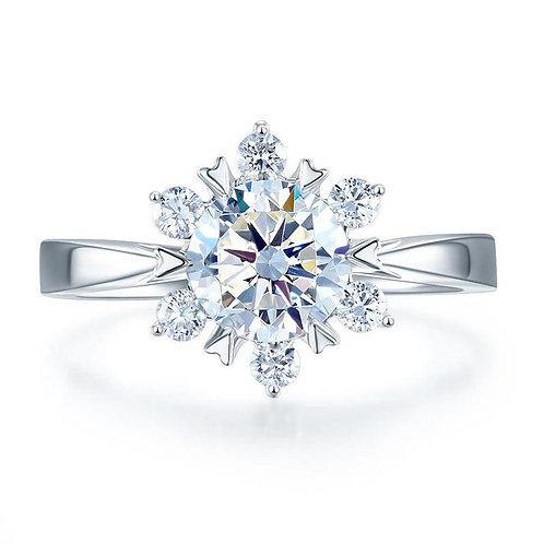1 Carat Flower Engagement Ring