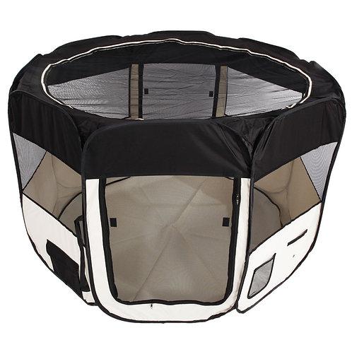 "57"" Circular Portable Mesh Pet Playpen Fence"