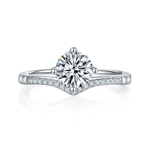 1 Carat Moissanite Diamond Engagement Ring