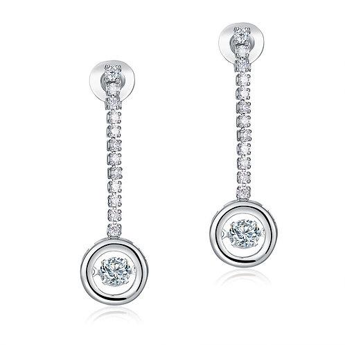 Dangle Drop Solid 925 Sterling Silver Earrings