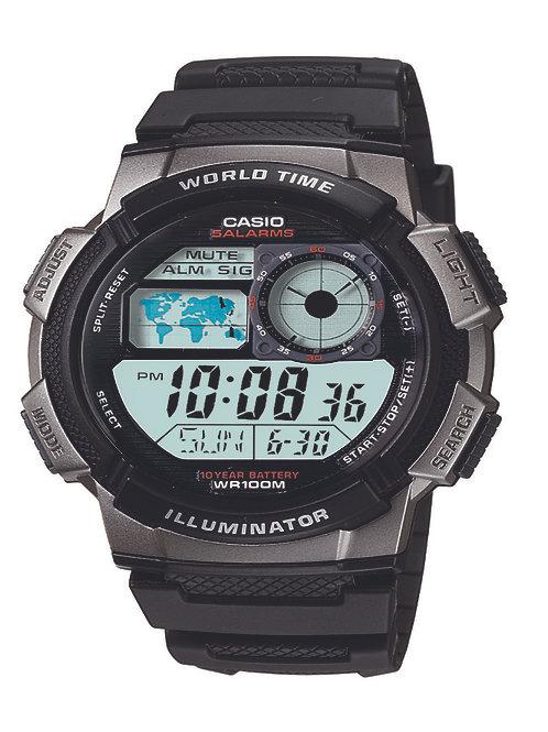 Casio Men's Silver-Tone Digital Sport Watch