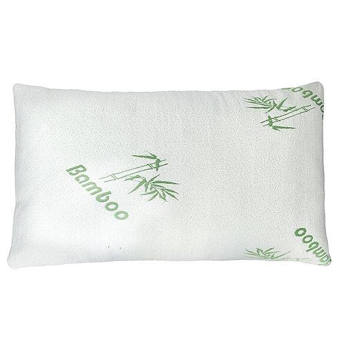 Premium Firm Hypoallergenic Bamboo Fiber Memory Foam Pillow Queen Size