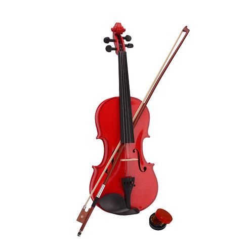 Red Acoustic Violin Set