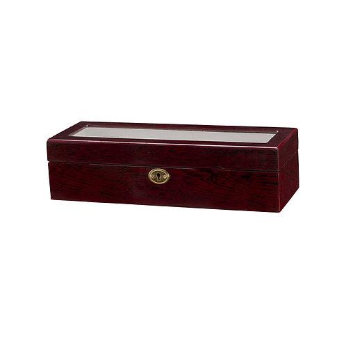 6 Slot Wooden Watch Display Case