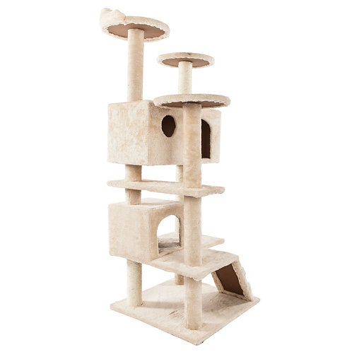 """52"""" Solid Sisal Cat Climbing Tower in Beige"""