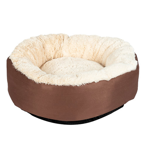 Round Pet Bed in Brown