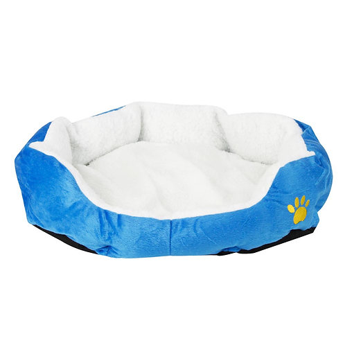 Pet Bed with Pad in Blue