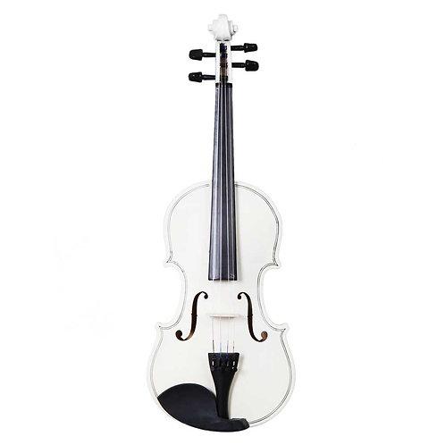 White Acoustic Violin Set