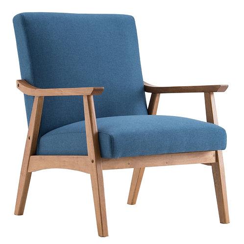 Simple Solid Wood Retro Sofa Chair