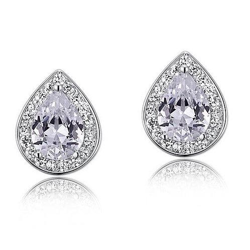 1 Carat Pear Cut Diamond Stud Earrings