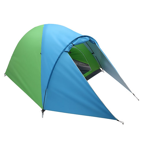 4-Person Double Layer Family Camping Tent Outdoor Instant Cabin Tent for Hiking