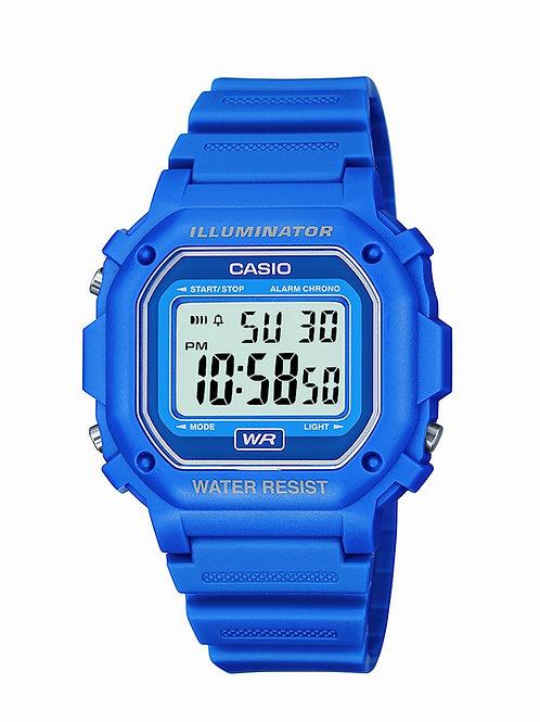 Casio Water Resistant Digital Blue Resin Strap Watch