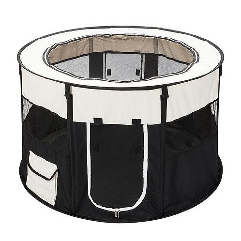 "40"" Circular Portable Mesh Pet Playpen Fence"