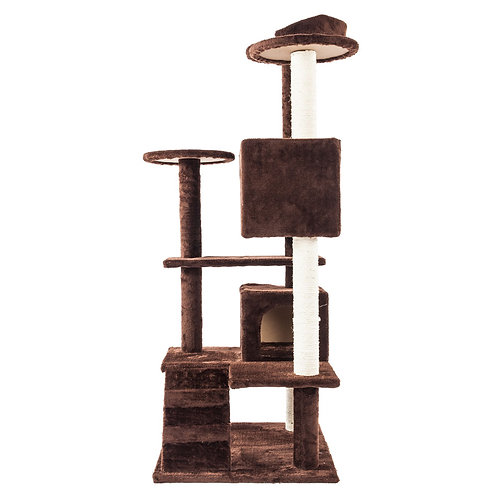 """52"""" Solid Sisal Rope Cat Climber in Brown"""