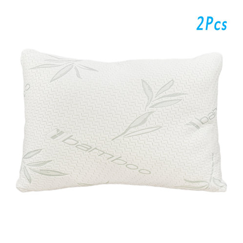 2 Piece Gel Particle Cotton Pillow Queen Sized