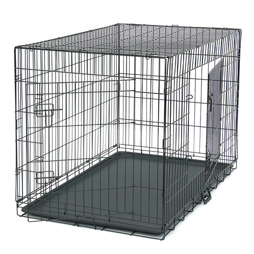 """48"""" Metal Folding Pet Kennel and Animal Crate"""