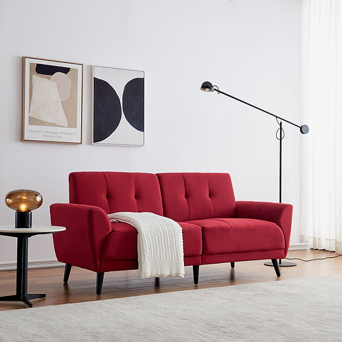 "Modern 71"" Sofa in Red"