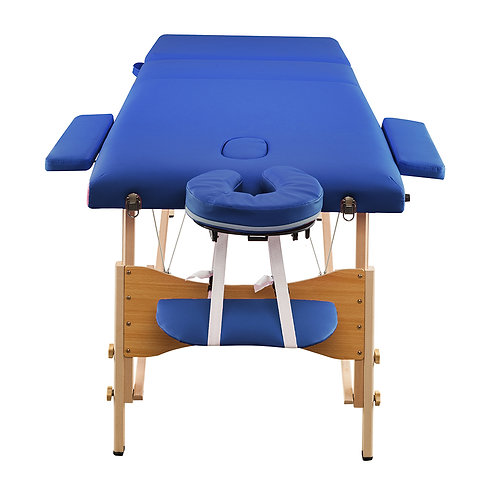 3 Sections Folding Portable Beauty Massage Table Set in Blue