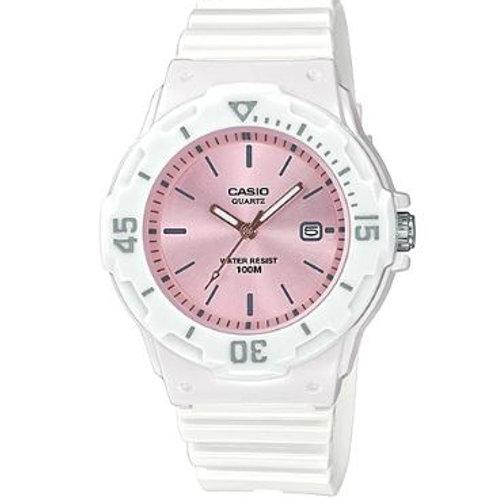 Casio Women's Standard Analog White Resin Band Watch