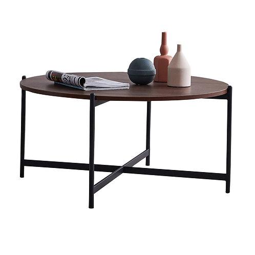 "Modern Round Walnut Coffee Table 36"""