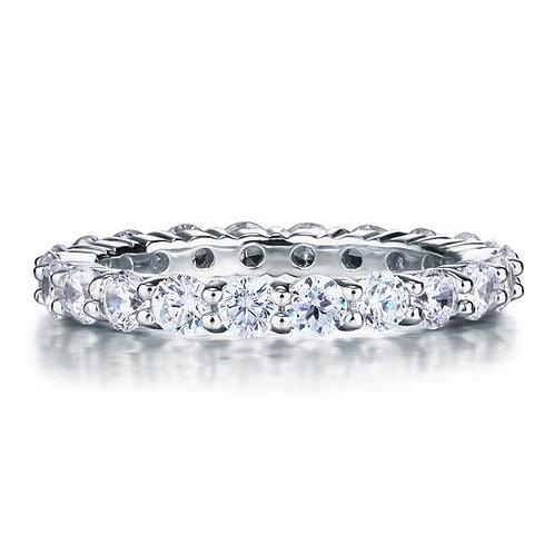 Solid 925 Sterling Silver Wedding Band