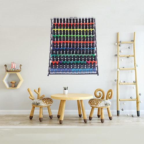 8 Tier Metal Nail Polish Display Organizer and Wall Rack