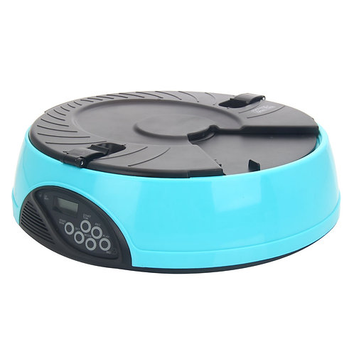 6-Meal Automatic Pet Feeder Light Blue