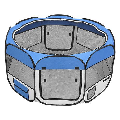 """45"""" Portable Foldable Pet Playpen Fence Blue"""
