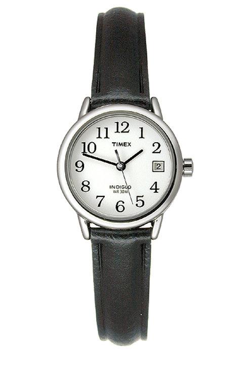 Timex Women's Silvertone Black Dial Watch
