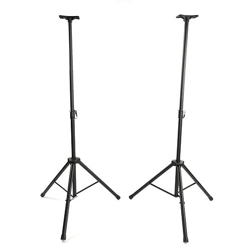 2 Piece Adjustable Tripod Speaker Stands with Carry Bag in Black
