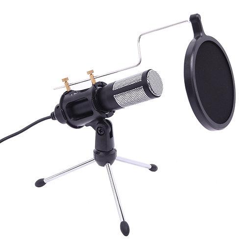 USB Microphone Tripod Stand Set in Black
