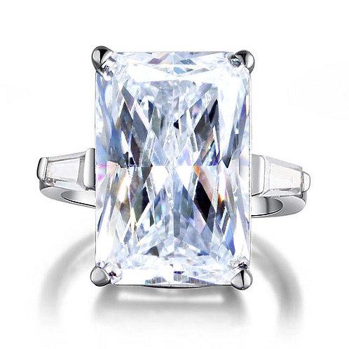 Princess Cut Silver Luxury Ring