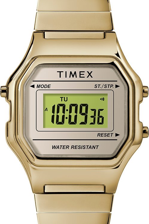 Timex Women's Classic Digital Mini Gold-Tone Stainless Steel Expansion