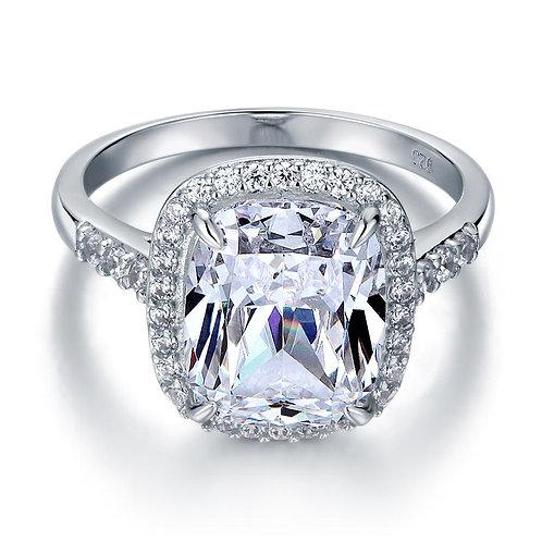 6 Ct Cushion Created Diamond Engagement Ring