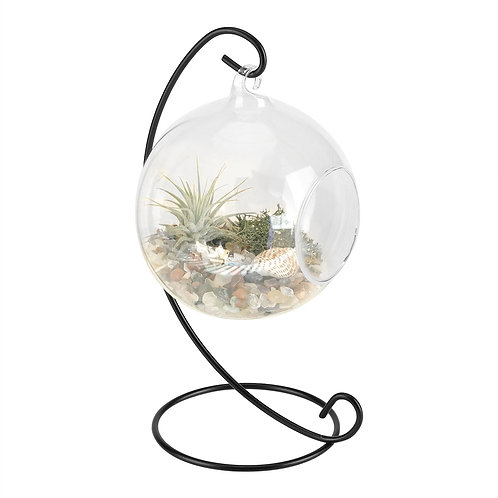 Hanging Glass Vase Large Terrarium with Frame for Air Plants Succulent Planters