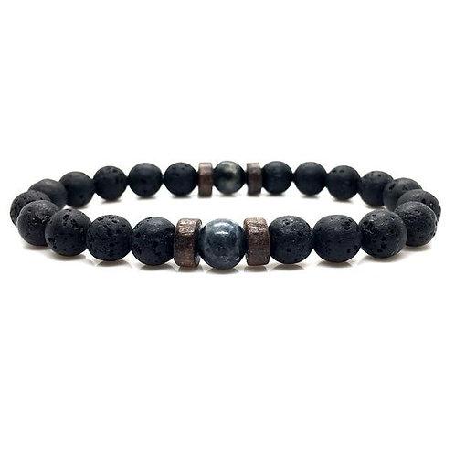 Men's Moonstone Bead Tibetan Prayer Bracelet