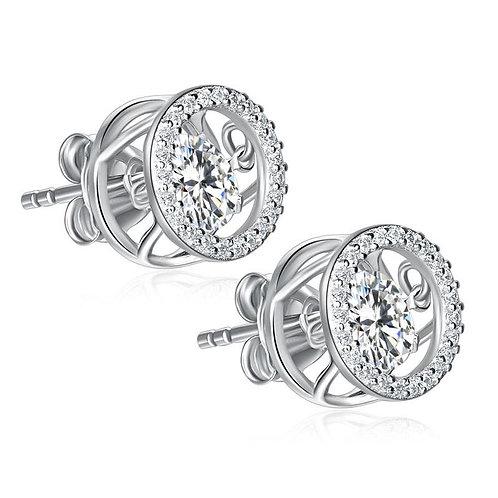 Stud Earrings 925 Sterling Silver